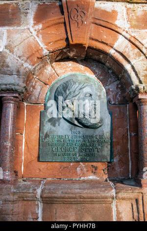Memorial to George Scott, previous Provost of Montrose, Angus, Scotland. - Stock Photo