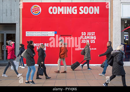 A Burger King store coming soon to Princes Street in Edinburgh.