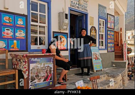 Greece, Karpathos mountain village Olympos - Stock Photo