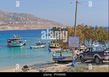 Greece, Karpathos coastal resort Lefkos - Stock Photo
