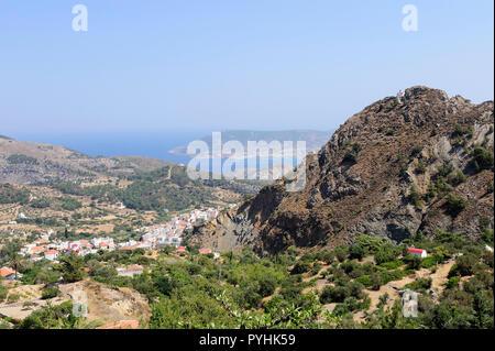 Greece, Karpathos mountain village Aperi - Stock Photo