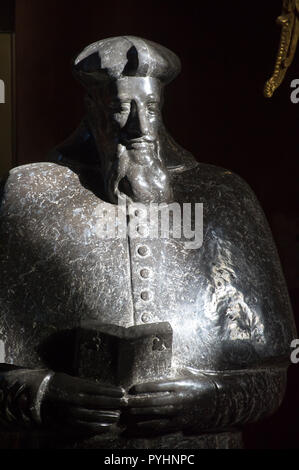 Cardinal Stanislaus Hosius monument in Gothic Archcathedral Basilica of the Assumption of the Blessed Virgin Mary and Saint Andrew, Frombork Cathedral Stock Photo