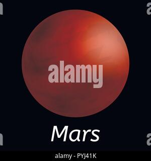 Mars planet icon, realistic style - Stock Photo