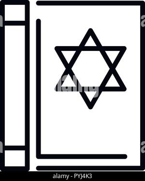 Torah book icon, outline style - Stock Photo