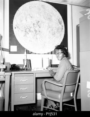 Jeanette Scissum joined NASA's Marshall Space Flight Center in 1964 after earning bachelor's and master's degrees in mathematics from Alabama A&M University. - Stock Photo