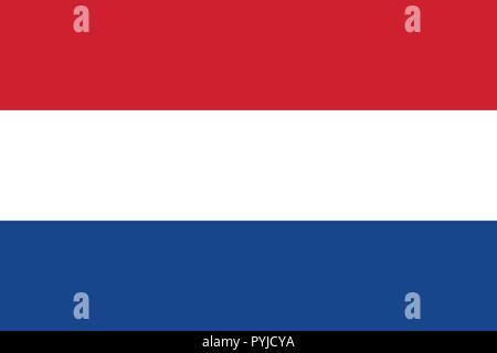 Netherlands official flag, vector illustration Stock ...