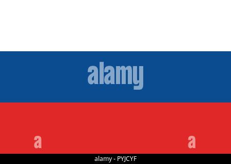 Vector image for Russia flag. Based on the official and exact Russian flag dimensions (3:2) & colors (White, 293C, and 485C) - Stock Photo