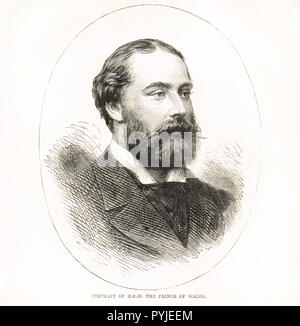 Prince Albert Edward, Prince of Wales, future King Edward VII, circa 1875 - Stock Photo