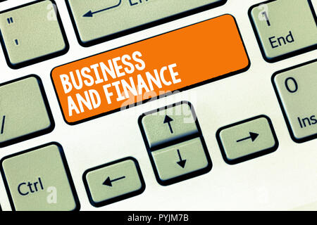 Handwriting text writing Business And Finance. Concept meaning Management of Asset Money and Fund of a company. - Stock Photo