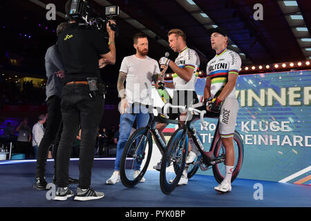 London UK . 28th Oct, 2018. during Six Day London 2018 at Lee Valley Velopark, Queen Elizabeth Olympic Park on Sunday, 28 October 2018. LONDON ENGLAND.  (Editorial use only, license required for commercial use. No use in betting, games or a single club/league/player publications.) Credit: Taka Wu/Alamy Live News - Stock Photo
