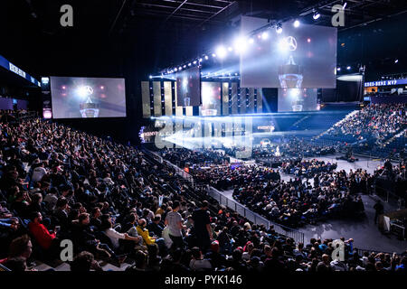 Hamburg, Germany. 28th Oct, 2018. Overview ESL One Hamburg during the finals. GES/eSport/ESL One Hamburg, 28.10.2018 eSports: ESL One Hamburg, October 28, 2018 | usage worldwide Credit: dpa/Alamy Live News - Stock Photo