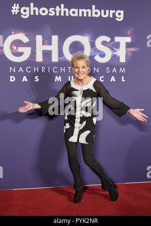 Hamburg, Germany. 28th Oct, 2018. Tanja Schuhmann, actress, arriving to the Hamburg premiere of the musical 'Ghost'. The musical will be on at the Operettenhaus until the end of February. Credit: Georg Wendt/dpa/Alamy Live News - Stock Photo