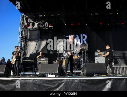 Huntington Beach, Ca. 27th Oct, 2018. Fear performs at Surf City Blitz at Huntington State Beach on October 27, 2018 in Huntington Beach, CA. Credit: Cvp/Image Space/Media Punch/Alamy Live News - Stock Photo
