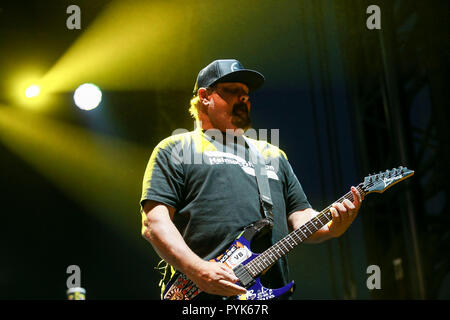 Huntington Beach, Ca. 27th Oct, 2018. Fletcher Dragge of Pennywise performs at Surf City Blitz at Huntington State Beach on October 27, 2018 in Huntington Beach, CA. Credit: Cvp/Image Space/Media Punch/Alamy Live News - Stock Photo