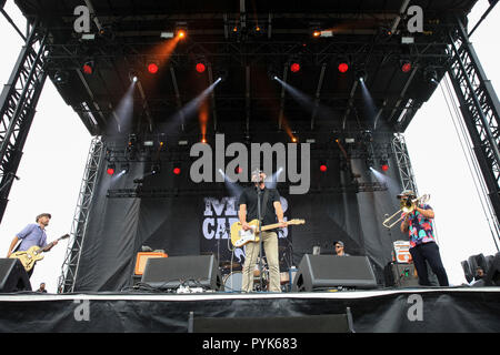 Huntington Beach, Ca. 27th Oct, 2018. The Mad Caddies perform at Surf City Blitz at Huntington State Beach on October 27, 2018 in Huntington Beach, CA. Credit: Cvp/Image Space/Media Punch/Alamy Live News - Stock Photo