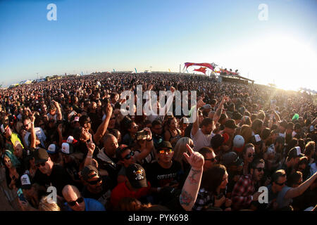 Huntington Beach, Ca. 27th Oct, 2018. Fans attend Surf City Blitz at Huntington State Beach on October 27, 2018 in Huntington Beach, CA. Credit: Cvp/Image Space/Media Punch/Alamy Live News - Stock Photo