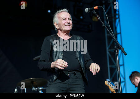 Huntington Beach, Ca. 27th Oct, 2018. Lee Ving of Fear. performs at Surf City Blitz at Huntington State Beach on October 27, 2018 in Huntington Beach, CA. Credit: Cvp/Image Space/Media Punch/Alamy Live News - Stock Photo