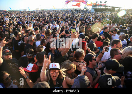 Huntington Beach, Ca. 27th Oct, 2018. Fans attends Surf City Blitz at Huntington State Beach on October 27, 2018 in Huntington Beach, CA. Credit: Cvp/Image Space/Media Punch/Alamy Live News - Stock Photo