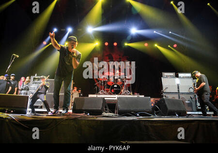 Huntington Beach, Ca. 27th Oct, 2018. Pennywise performs at Surf City Blitz at Huntington State Beach on October 27, 2018 in Huntington Beach, CA. Credit: Cvp/Image Space/Media Punch/Alamy Live News - Stock Photo