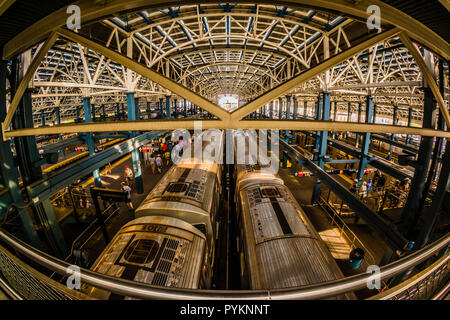 Coney Island – Stillwell Avenue Subway Station Coney Island Brooklyn _ New York, New York, USA - Stock Photo