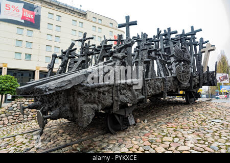 View of the Monument to the Fallen and Murdered in the East, a monument commemorating the victims of the Soviet invasion of Poland during World War II - Stock Photo