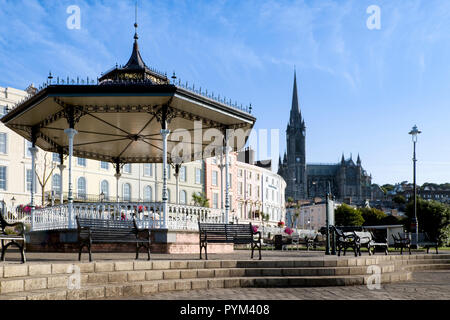 The bandstand in Kennedy Park  on the waterfront of Cobh, County Cork, Ireland. - Stock Photo