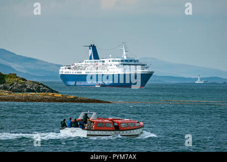 Cruise ship Ocean Countess at anchor in Firth of Lorn outside Oban Argyll & Bute Scotland UK - Stock Photo
