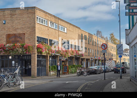 The Brew House pub, starting point for the famous bi-annual pub crawl down King street, Cambridge, England. - Stock Photo
