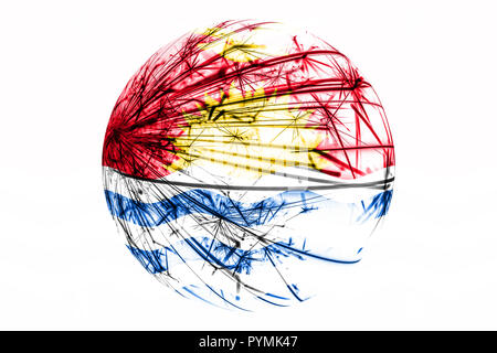 Abstract Kiribati sparkling flag, Christmas ball concept isolated on white background - Stock Photo