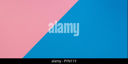 Blue and pink two tone diagonal devided color paper background. - Stock Photo
