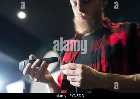 Changing Batteries - Stock Photo