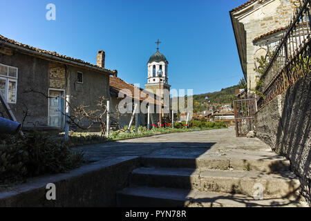 VELIKO TARNOVO, BULGARIA -  APRIL 11, 2017: Houses in old town of city of Veliko Tarnovo, Bulgaria - Stock Photo