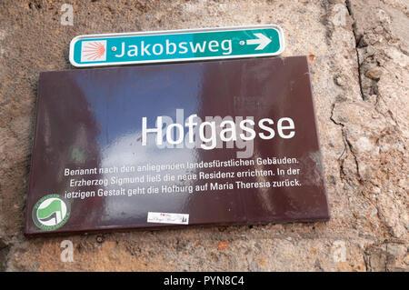 Innsbruck, Austria, Hofgasse Street - Stock Photo