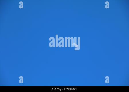 crescent moon beautiful on  blue sky with copy space for text - Stock Photo