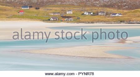 Luskentyre Beach, Isle of Harris, Outer Hebrides, Scotland - Stock Photo