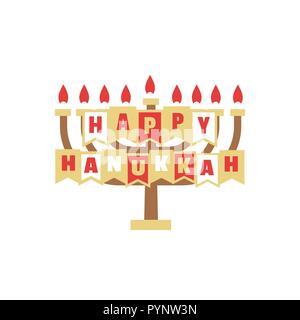 Happy Hanukkah holiday - Stock Photo