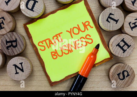 Word writing text Start Your Business. Business concept for going into a New Venture Create New Product Services. - Stock Photo