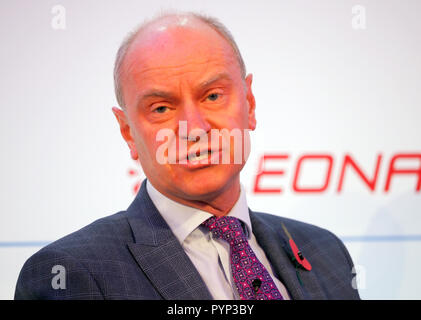 London, UK. 29th Oct, 2018. Dave Lees CEO BristolAirport speaking at the Airport Operators Conference being held at County Hall, London today (Mon) Credit: Finnbarr Webster/Alamy Live News - Stock Photo