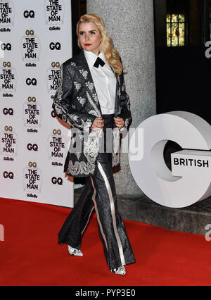 London, UK. 29th Oct, 2018. Paloma Faith Arrivers at GQ 30th Anniversary celebration at Sushisamba, The Market, Convent Garden on 29 October 2018. Credit: Picture Capital/Alamy Live News - Stock Photo