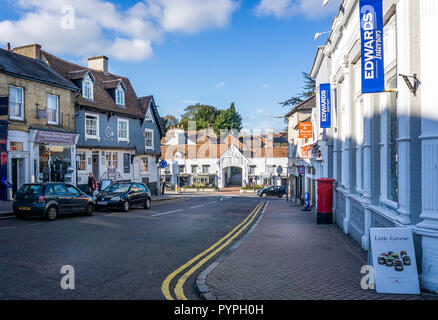 The Horn at The Half Moon Inn in North Street, Bishop's Stortford, Hertfordshire, UK on 25 October 2018 - Stock Photo