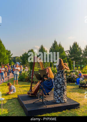 MOSCOW, RUSSIA - AUGUST 31, 2018:  Landscape architecture  and garden festival at Tsaritsyno park. - Stock Photo