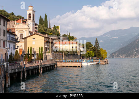 Riva di Solto on Lake Iseo in northern Italy - Stock Photo
