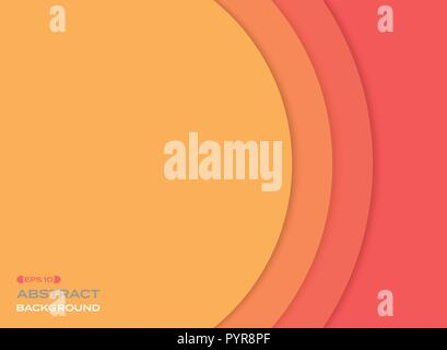 Abstract of paper cut sun orange tone color background. vector eps10 - Stock Photo