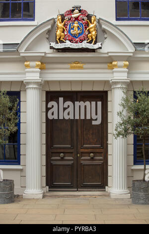 The historic Apothecaries Hall is a Grade I listed building in the old City of London UK and one of the oldest livery companies for medicinal products - Stock Photo