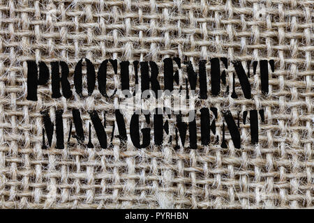 Text sign showing Procurement Management. Conceptual photo buying Goods and Services from External Sources. - Stock Photo