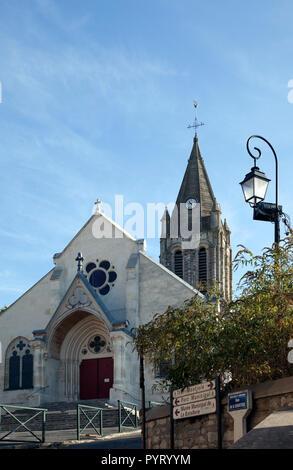 Sainte Honorine Church, Conflans, Normandy - Stock Photo