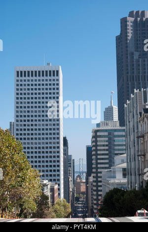 San Francisco downtown. Modern and retro architecture.