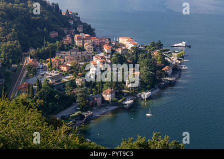 The town of Varenna on Lake Como in northern Italy