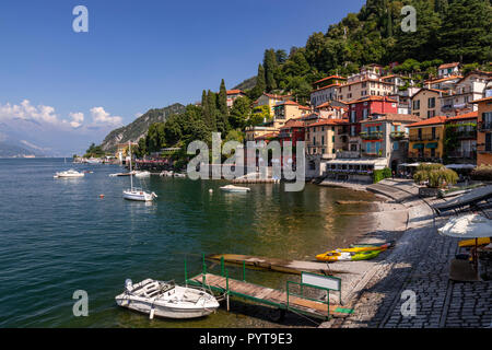 Boats moored at Varenna on Lake Como in northern Italy