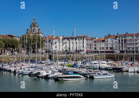 The Vieux Port of La Rochelle in the Charente-Maritime region of France. - Stock Photo